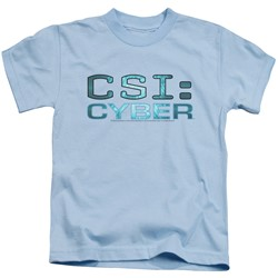 Csi: Cyber - Little Boys Cyber Logo T-Shirt