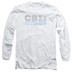 Csi: Cyber - Mens Logo Long Sleeve T-Shirt