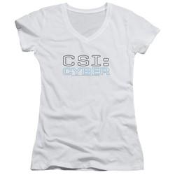 Csi: Cyber - Womens Logo V-Neck T-Shirt