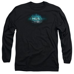Csi: Cyber - Mens Thumb Print Long Sleeve T-Shirt