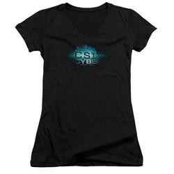 Csi: Cyber - Womens Thumb Print V-Neck T-Shirt