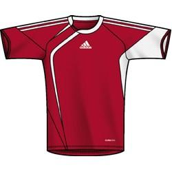 Adidas - Iro Jsy  Youth  Boys Shortsleeve Shirt In Red,White