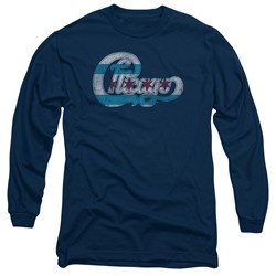 Chicago - Mens Flag Logo Long Sleeve T-Shirt