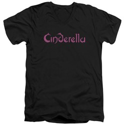 Cinderella - Mens Logo Rough V-Neck T-Shirt