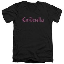 Cinderella - Mens Logo Rough V-Neck T-Shirt