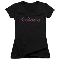 Cinderella - Womens Logo Rough V-Neck T-Shirt