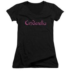 Cinderella - Womens Logo Rough V-Neck T-Shirt