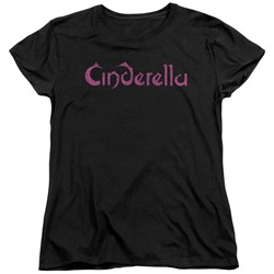 Cinderella - Womens Logo Rough T-Shirt