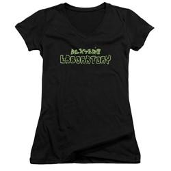 Dexter's Laboratory - Womens Dexter's Logo V-Neck T-Shirt