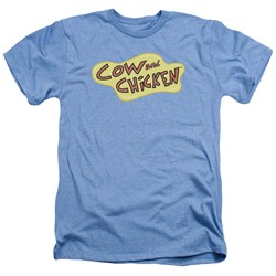 Cow & Chicken - Mens Cow Chicken Logo Heather T-Shirt