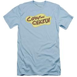 Cow & Chicken - Mens Cow Chicken Logo Slim Fit T-Shirt