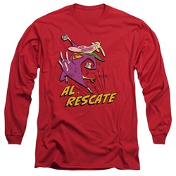 Cow & Chicken - Mens Al Rescate Long Sleeve T-Shirt