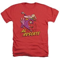 Cow & Chicken - Mens Al Rescate Heather T-Shirt