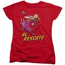 Cow & Chicken - Womens Al Rescate T-Shirt