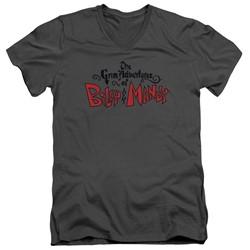 Grim Adventures Of Billy & Mandy - Mens Grim  Logo V-Neck T-Shirt