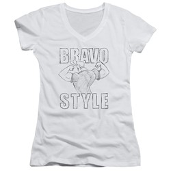 Johnny Bravo - Womens Bravo Style V-Neck T-Shirt