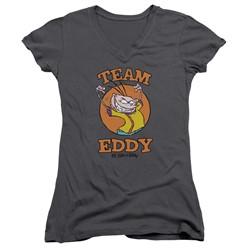 Ed Edd N Eddy - Womens Team Eddy V-Neck T-Shirt