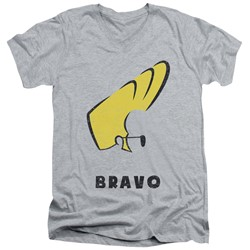 Johnny Bravo - Mens Johnny Hair V-Neck T-Shirt