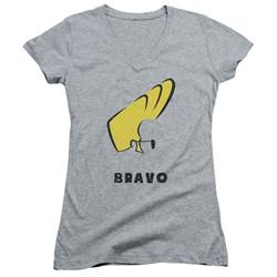 Johnny Bravo - Womens Johnny Hair V-Neck T-Shirt