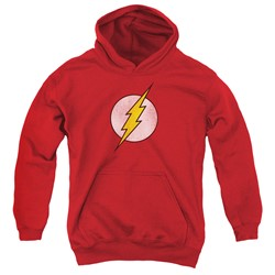 Dc - Youth Flash Logo Distressed Pullover Hoodie