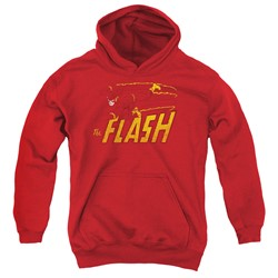 Dc - Youth Flash Speed Distressed Pullover Hoodie