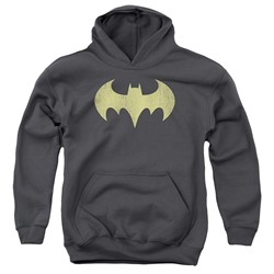 Dc - Youth Batgirl Logo Distressed Pullover Hoodie