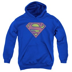 Dc - Youth Retro Supes Logo Distressed Pullover Hoodie