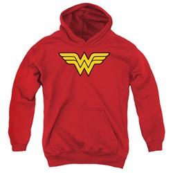 Dc - Youth Wonder Woman Logo Pullover Hoodie