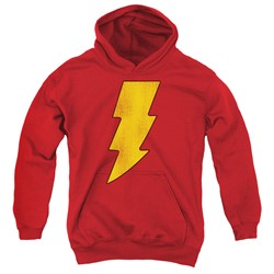 Dc - Youth Shazam Logo Distressed Pullover Hoodie