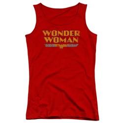 Dc - Juniors Wonder Woman Logo Tank Top