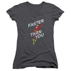 Dc - Womens Faster Than You V-Neck T-Shirt