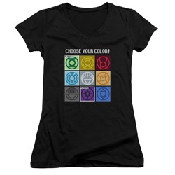Dc - Womens Choose Your Color V-Neck T-Shirt