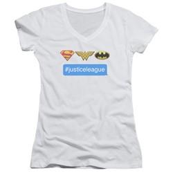 Dc - Womens Hashtag Jla V-Neck T-Shirt