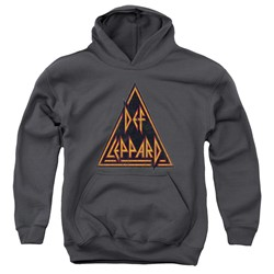 Def Leppard - Youth Distressed Logo Pullover Hoodie