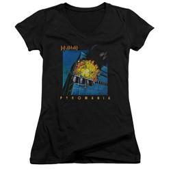 Def Leppard - Womens Pyromania V-Neck T-Shirt