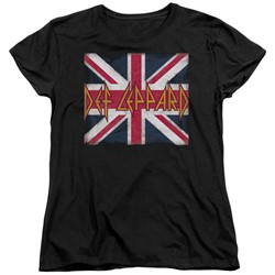 Def Leppard - Womens Union Jack T-Shirt