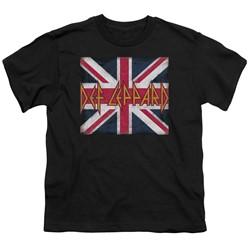 Def Leppard - Big Boys Union Jack T-Shirt