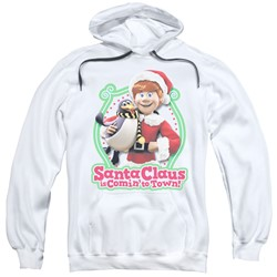 Santa Claus Is Comin To Town - Mens Penguin Pullover Hoodie