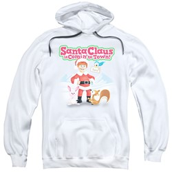 Santa Claus Is Comin To Town - Mens Animal Friends Pullover Hoodie