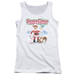 Santa Claus Is Comin To Town - Juniors Animal Friends Tank Top