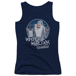 Santa Claus Is Comin To Town - Juniors Winter Warlock Tank Top