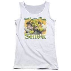 Shrek - Juniors Ogres Need Love Tank Top