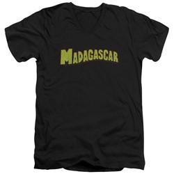 Madagascar - Mens Logo V-Neck T-Shirt