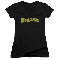 Madagascar - Womens Logo V-Neck T-Shirt