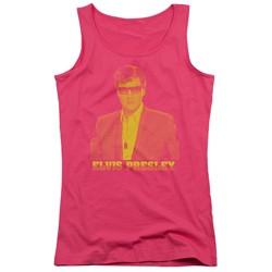 Elvis Presley - Juniors Yellow Elvis Tank Top