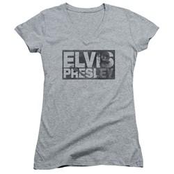 Elvis Presley - Womens Block Letters V-Neck T-Shirt