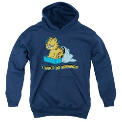 Garfield - Youth I Don't Do Mornings Pullover Hoodie