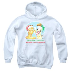 Garfield - Youth Merry And Striped Pullover Hoodie