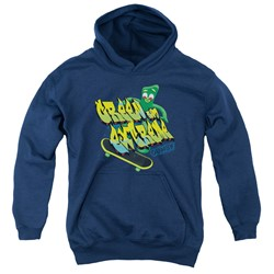 Gumby - Youth Green And Extreme Pullover Hoodie