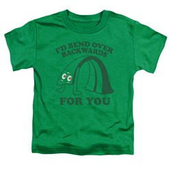 Gumby - Toddlers Bend Backwards T-Shirt